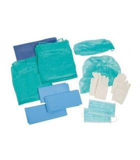 SET SURGERY WITH GLOVES STERILE