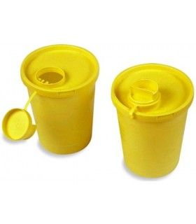 CONTAINERS OF USED NEEDLES YELLOW